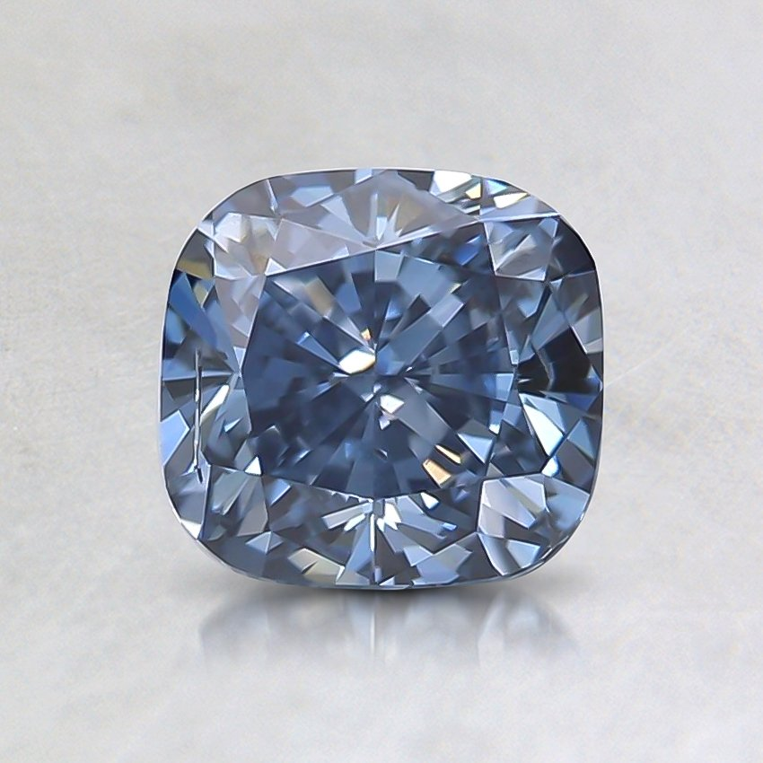 1.08 Ct. Fancy Deep Blue Cushion Lab Created Diamond
