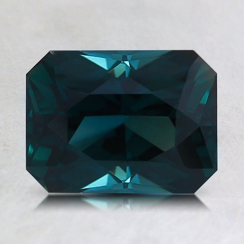 8x6mm Teal Radiant Sapphire