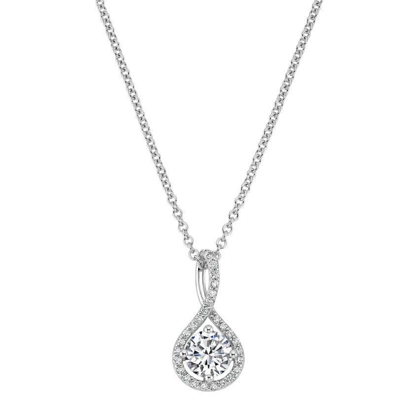 Diamond Pavé Twist Necklace
