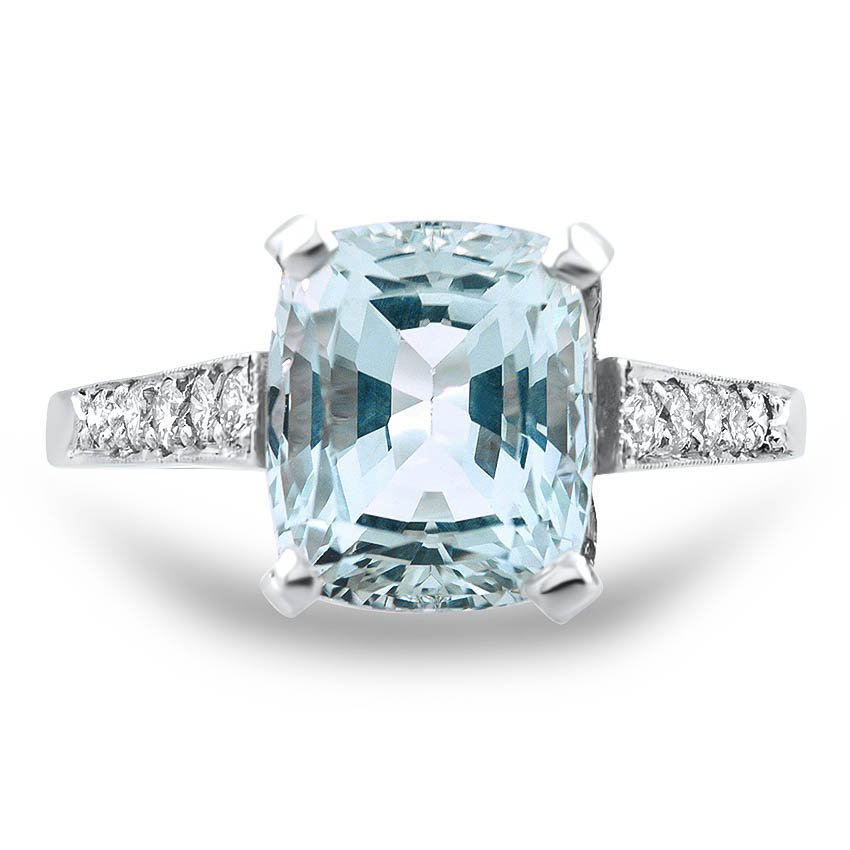 Retro Aquamarine Cocktail Ring