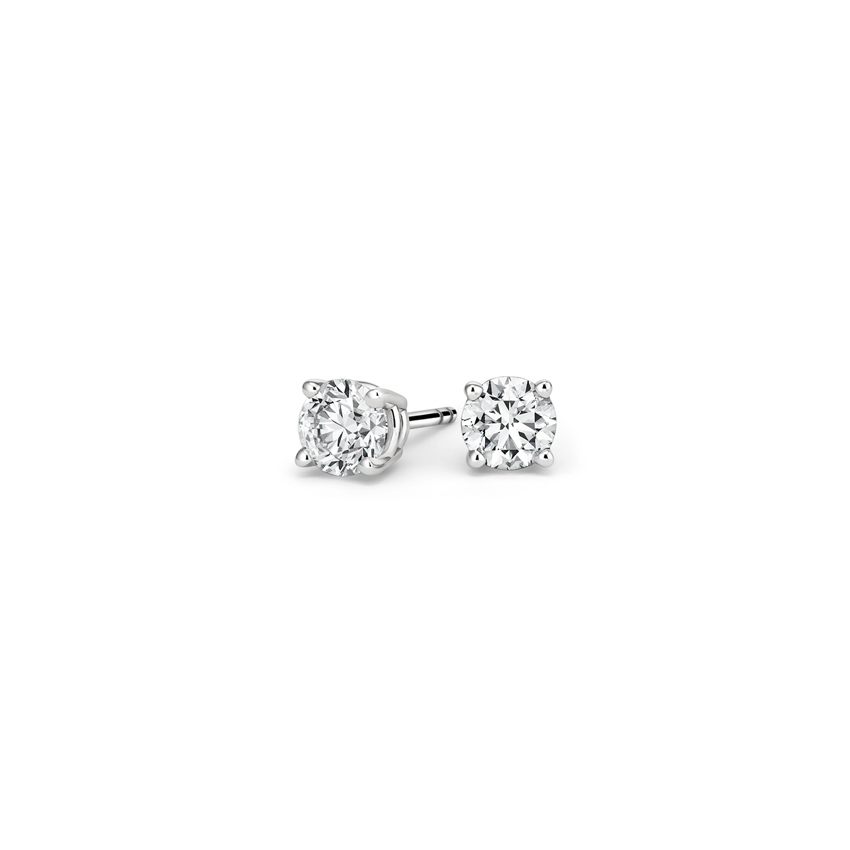 Round Diamond Stud Earrings (1/4 ct. tw.) in 18K White Gold