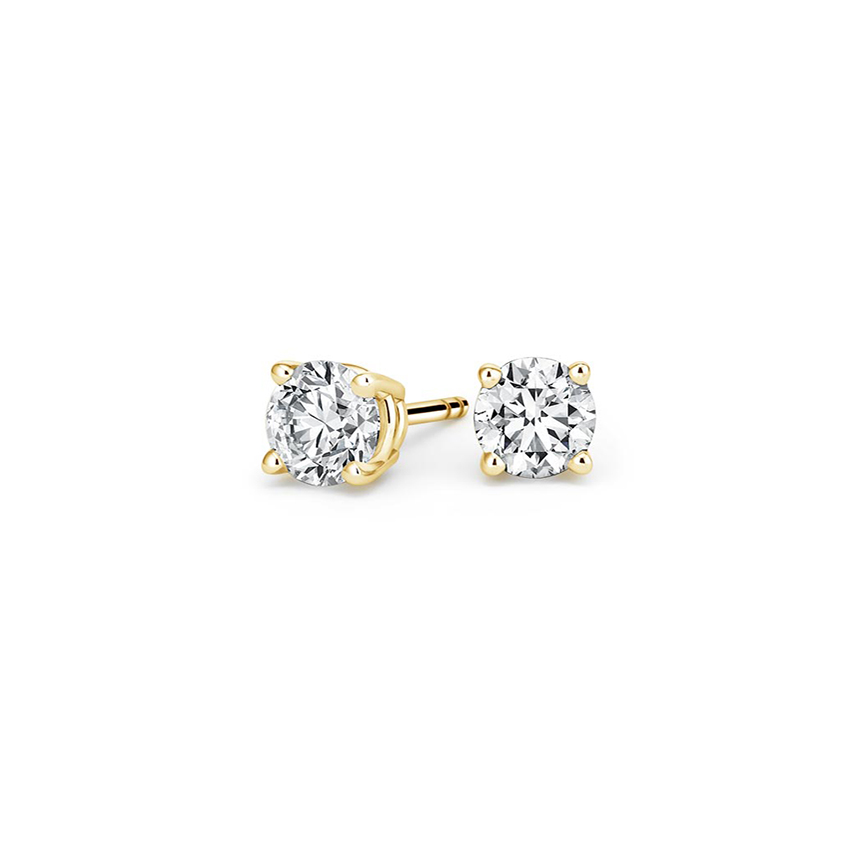 Round Diamond Stud Earrings (3/4 ct. tw.) in 18K Yellow Gold