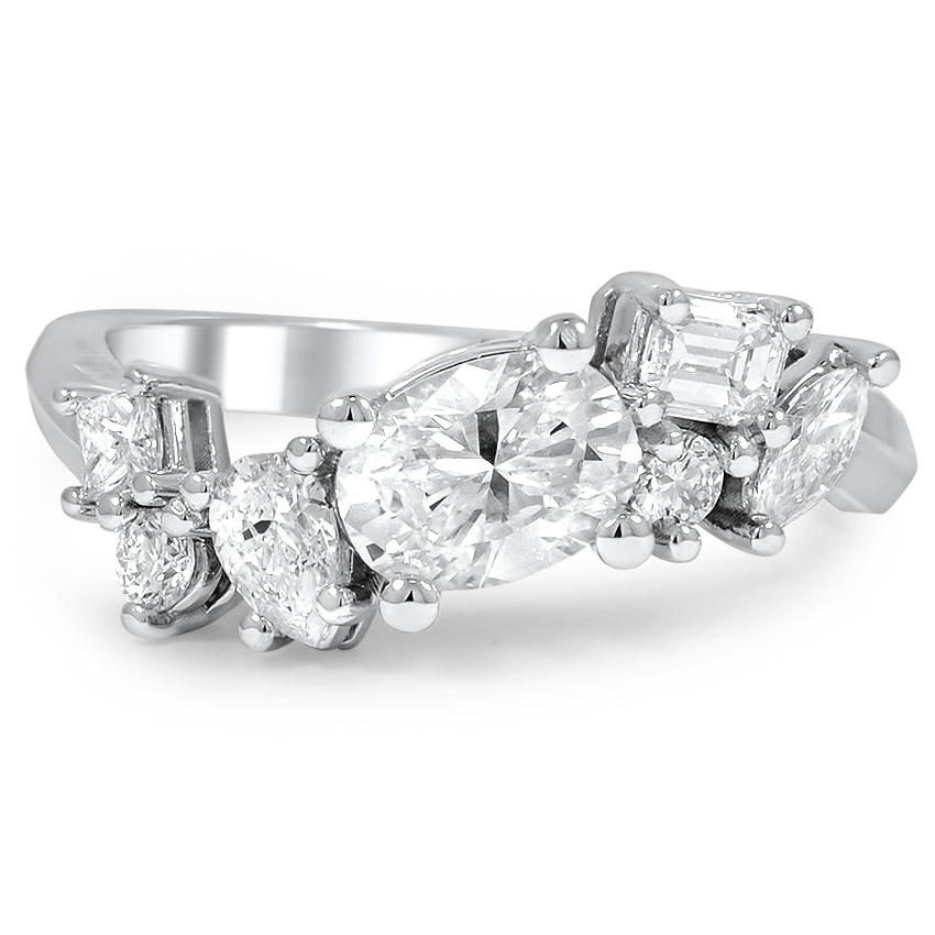 Custom Assorted Diamond Cluster Ring