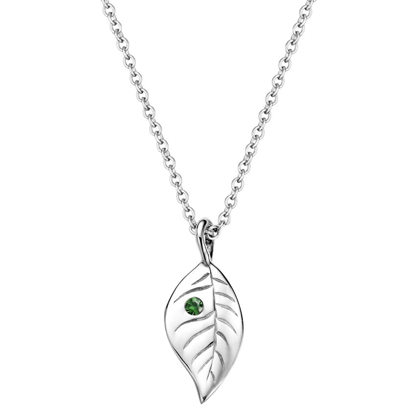 Silver Leaf Pendant, top view