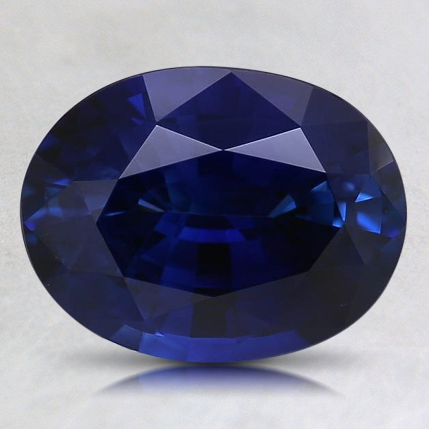 9.1X7mm Super Premium Blue Oval Sapphire, top view