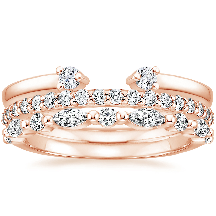 Rose Gold Tres Diamond Ring Stack (3/4 ct. tw.)