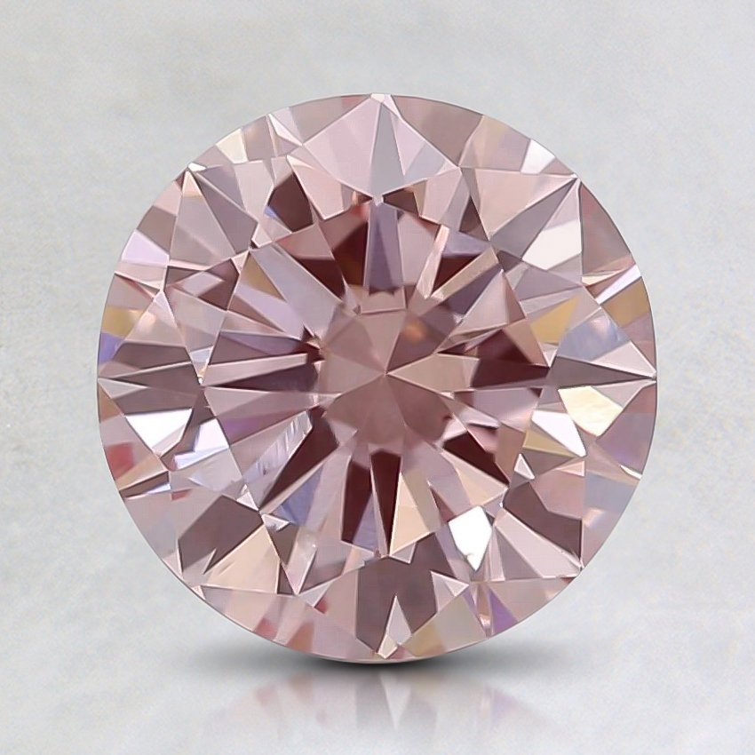1.14 Ct. Fancy Pink Round Lab Created Diamond