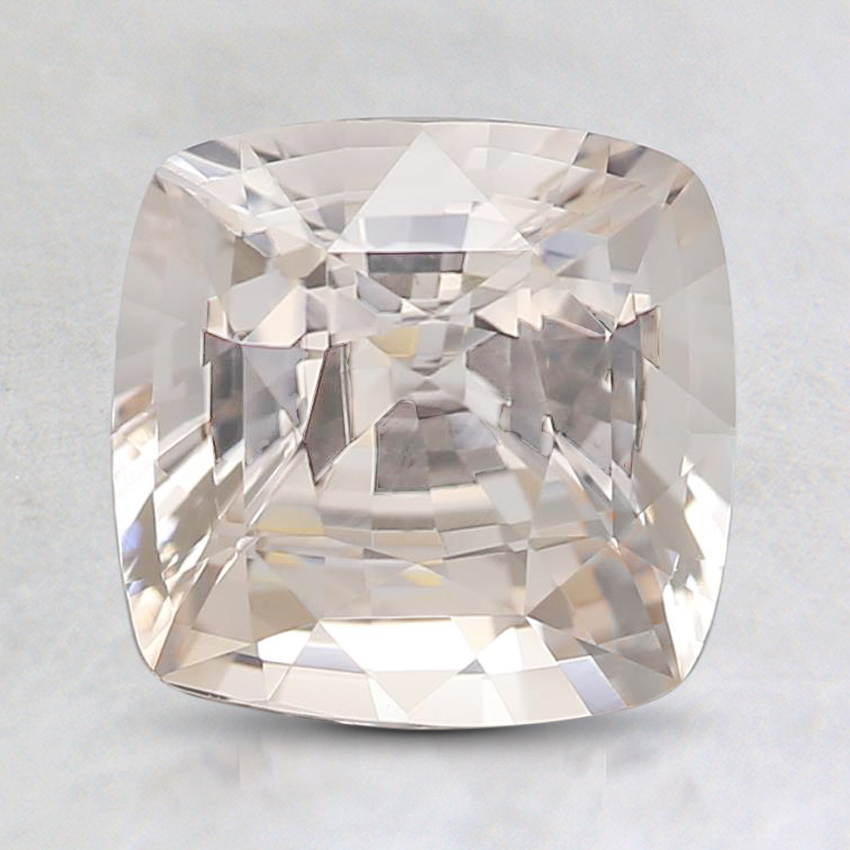 7.6mm Unheated Peach Cushion Sapphire