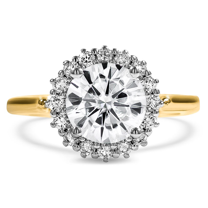 Custom Two-Tone Halo Engagement Ring