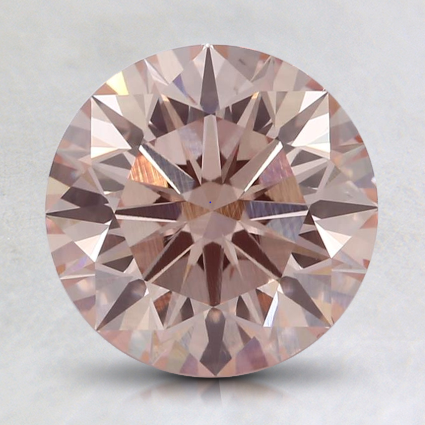2.02 Ct. Fancy Light Pinkish Orange Round Lab Created Diamond