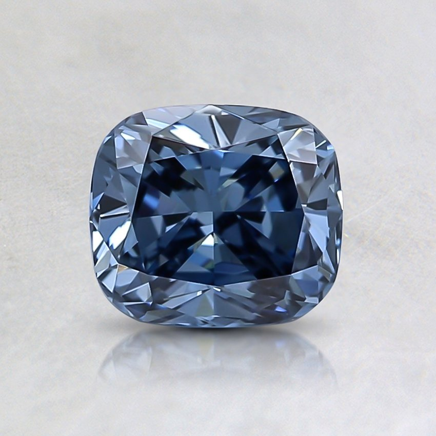 0.93 Ct. Fancy Vivid Blue Cushion Lab Created Diamond