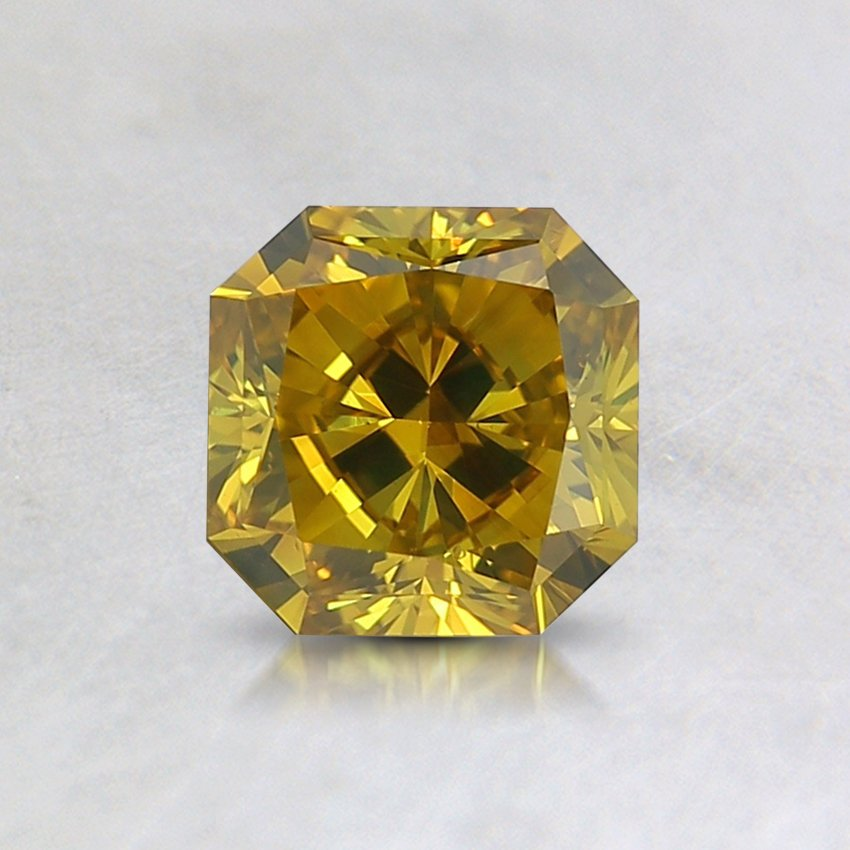 0.71 Ct. Lab Created Fancy Intense Yellow Radiant Diamond
