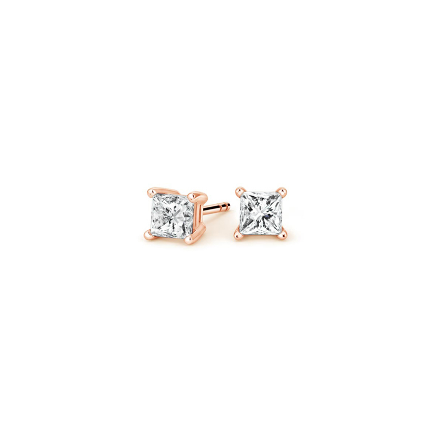 Princess Diamond Stud Earrings (1/4 ct. tw.) in 14K Rose Gold
