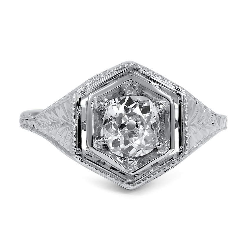 The Gizella Ring, top view
