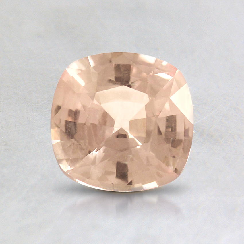 6mm Peach Cushion Sapphire, top view