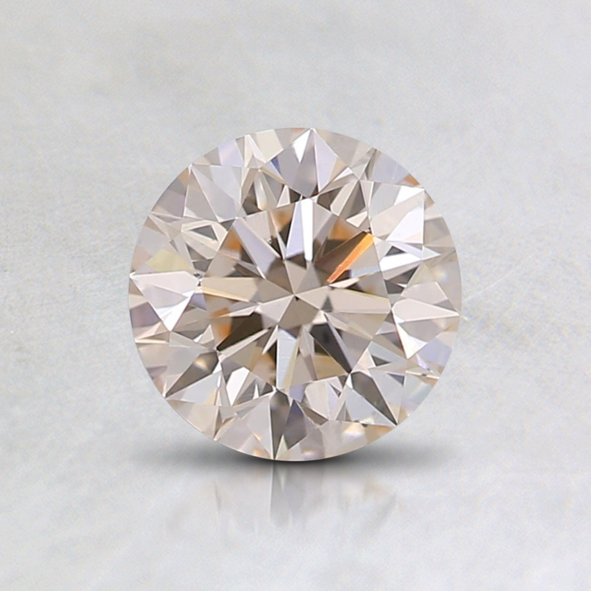 0.71 Ct. Lab Created Fancy Very Light Orange Round  Diamond