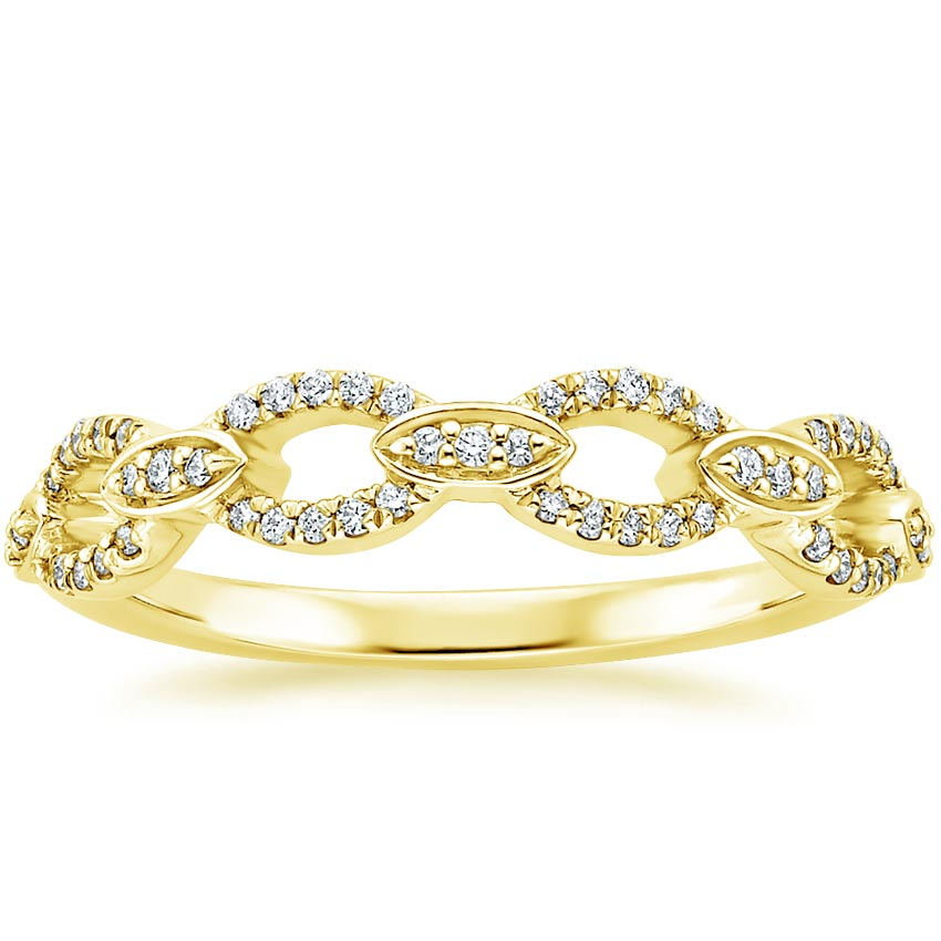 Yellow Gold Unique Infinity Wedding Ring
