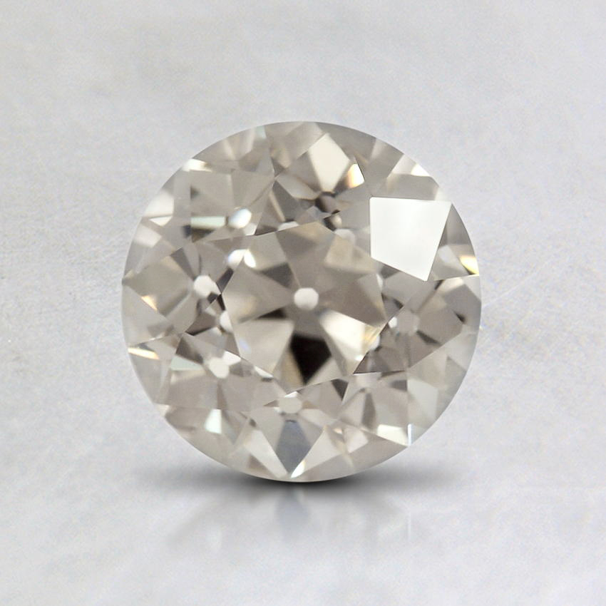 1.04 Carat, J Color, SI1 Clarity, Round Old European Cut Diamond, top view