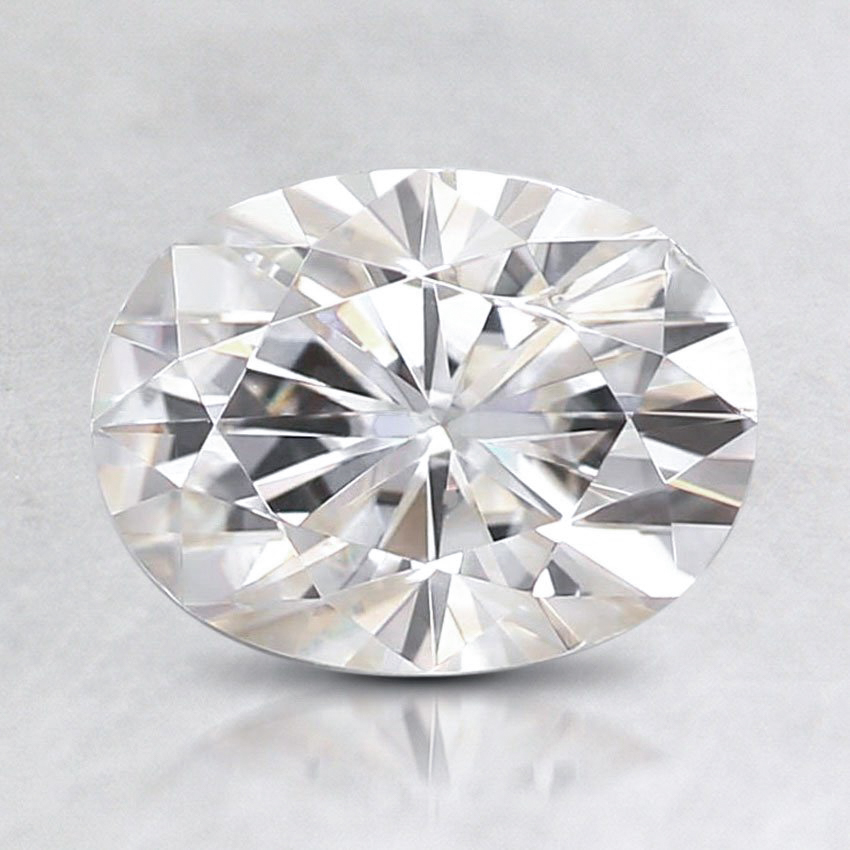 8x6mm Super Premium Oval Moissanite, top view