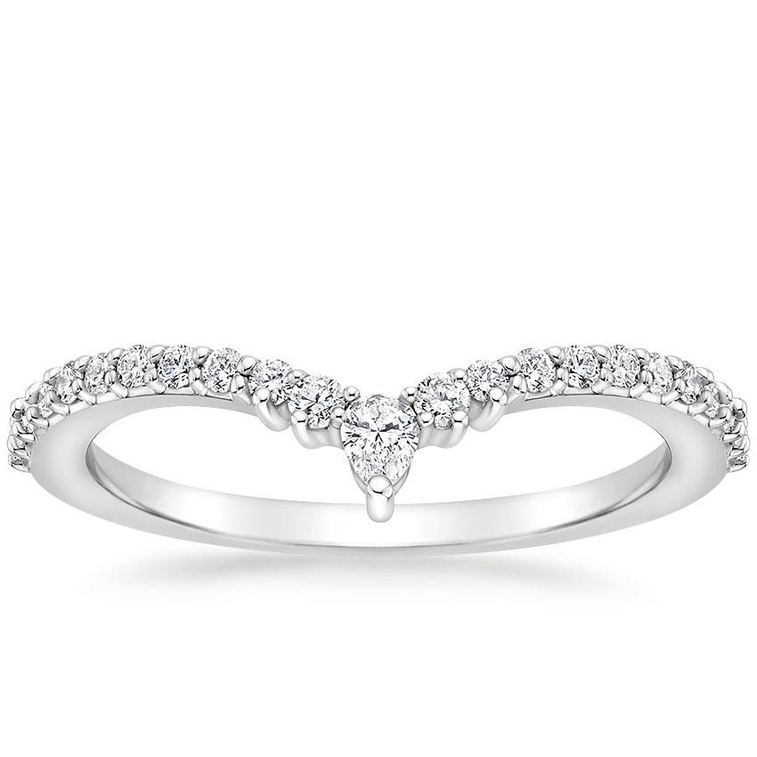 Curved Pear Diamond Ring