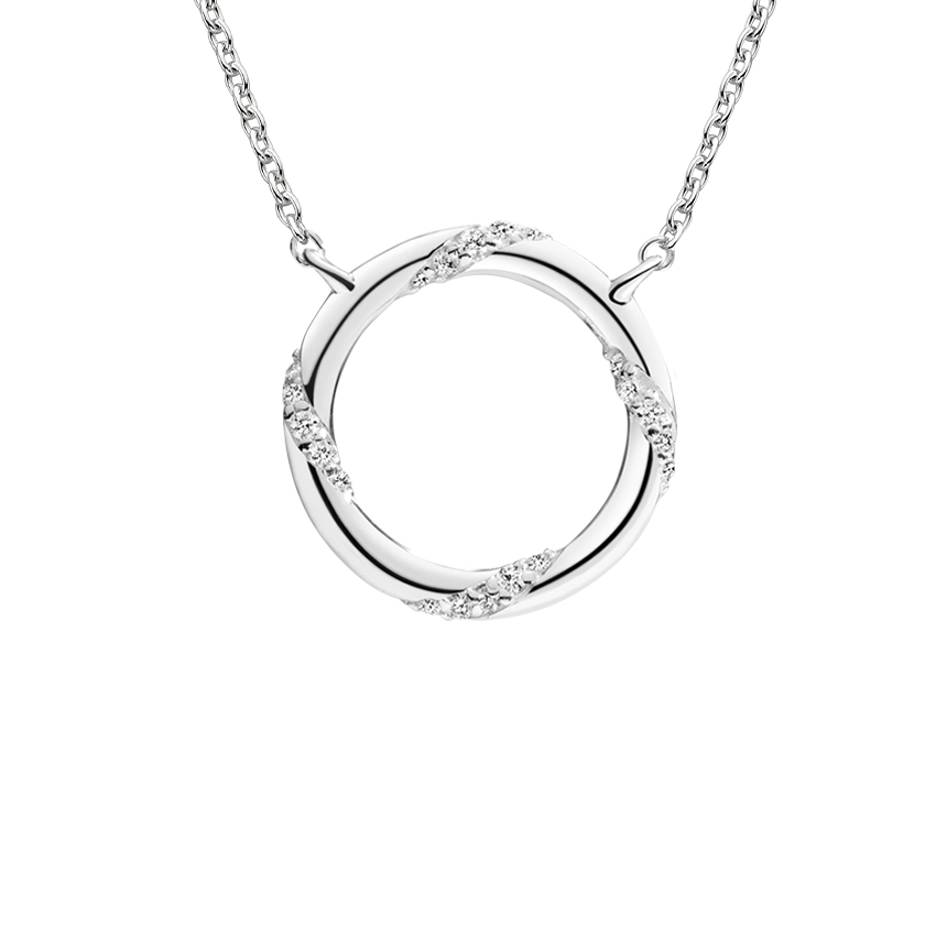 Accented Hoop Pendant