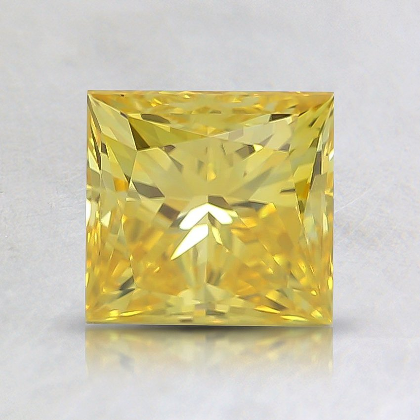 1.26 Ct. Fancy Vivid Yellow Princess Lab Created Diamond
