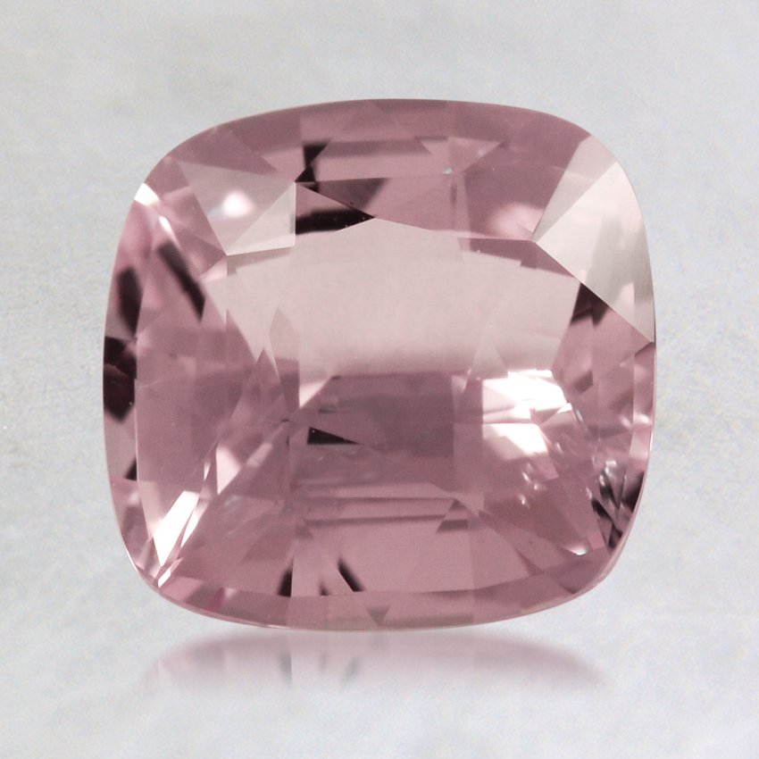 7.5mm Pink Cushion Sapphire, top view
