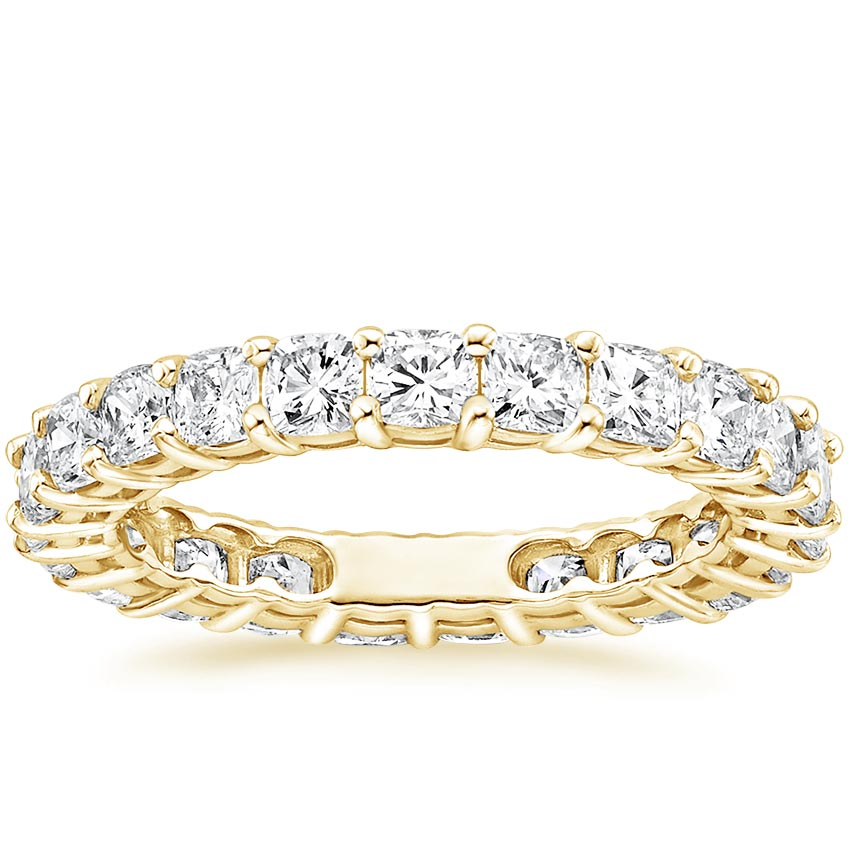 Yellow Gold Cushion Eternity Diamond Ring (2 ct. tw.)