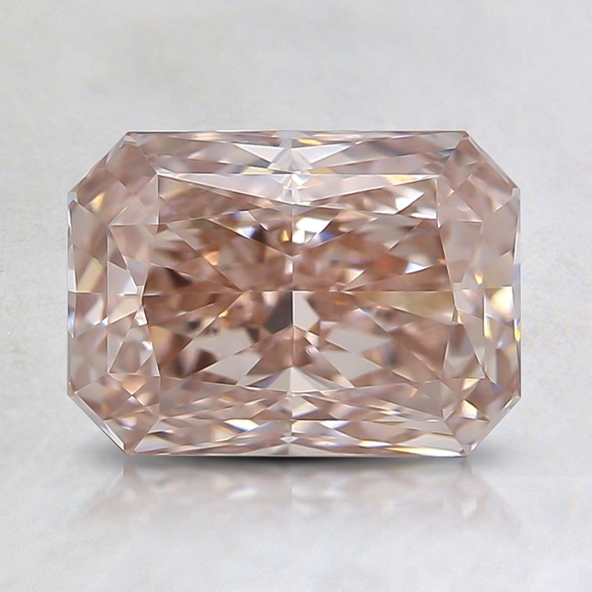 1.35 Ct. Fancy Brownish Pink Radiant Lab Created Diamond