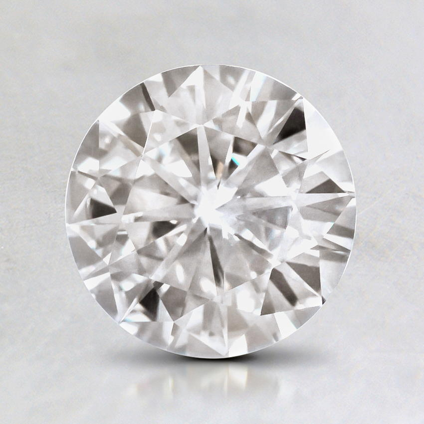 7.5mm Premium Round Moissanite, top view