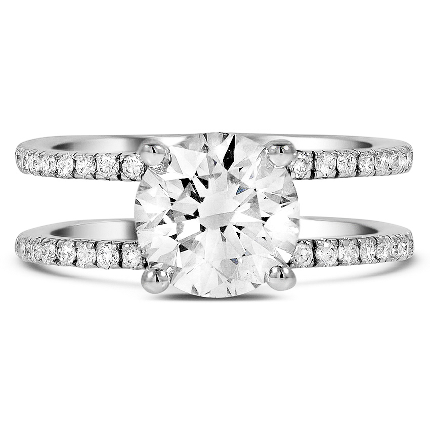 Custom Dual Band Diamond Ring