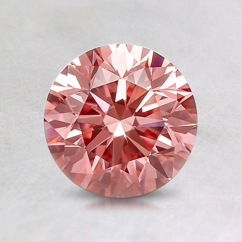1.03 ct. Lab Created Fancy Vivid Pink Round Diamond, top view