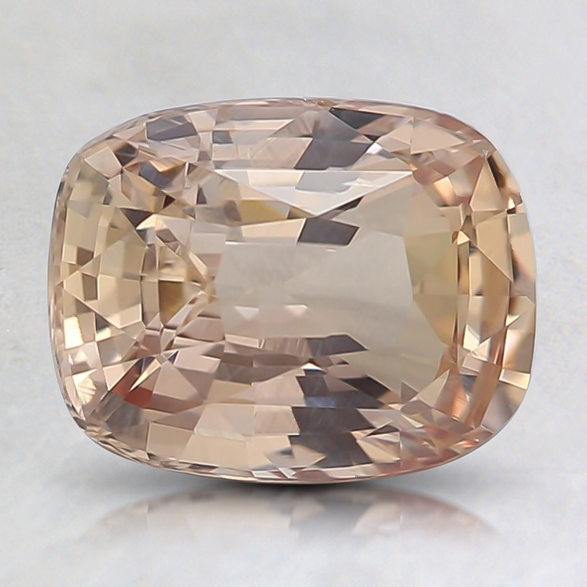 7.4x5.7mm Unheated Peach Cushion Sapphire