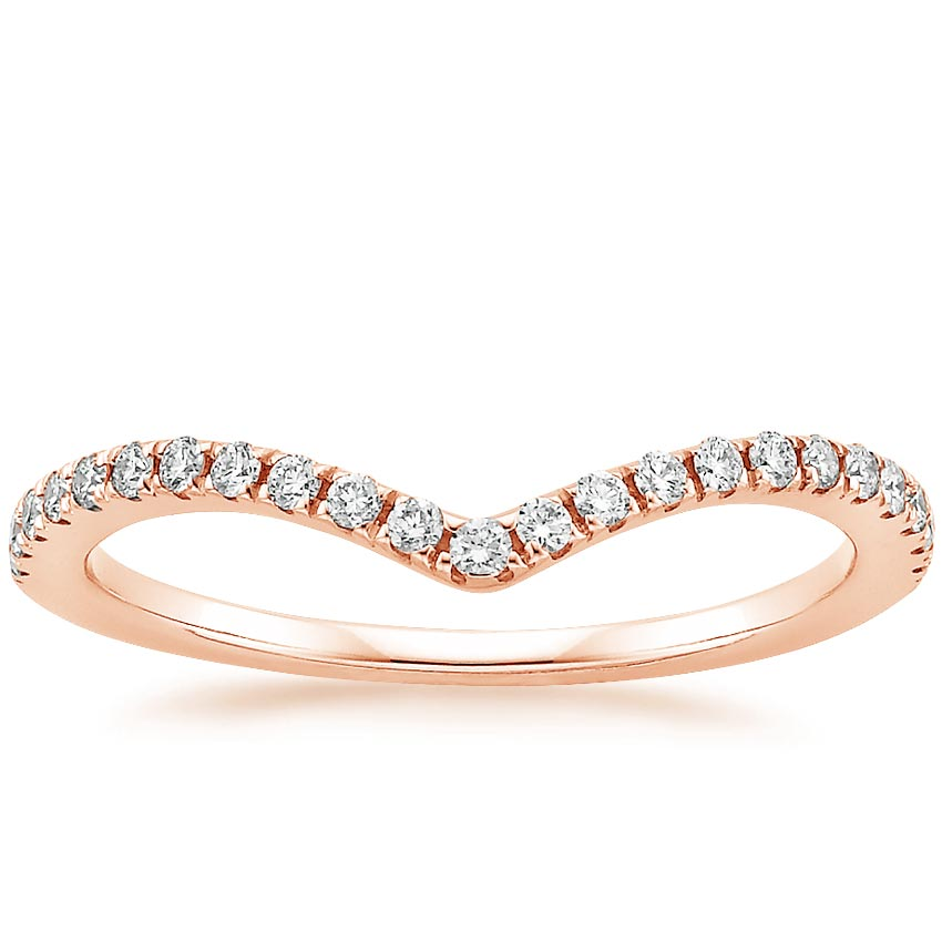 Rose Gold Flair Diamond Ring (1/6 ct. tw.)