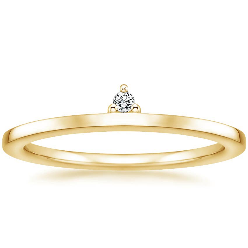 Yellow Gold Notched Wedding Band