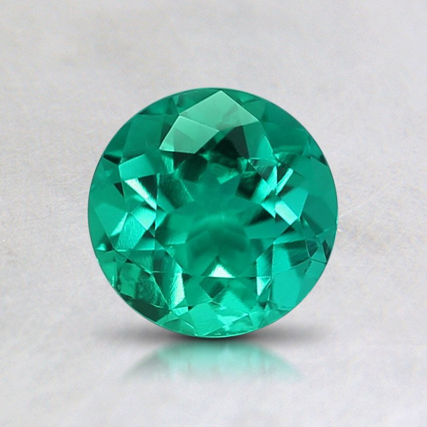 6mm Round Lab Created Emerald