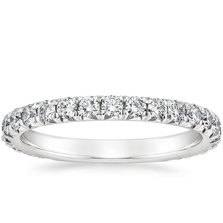 French Pavé Diamond Ring