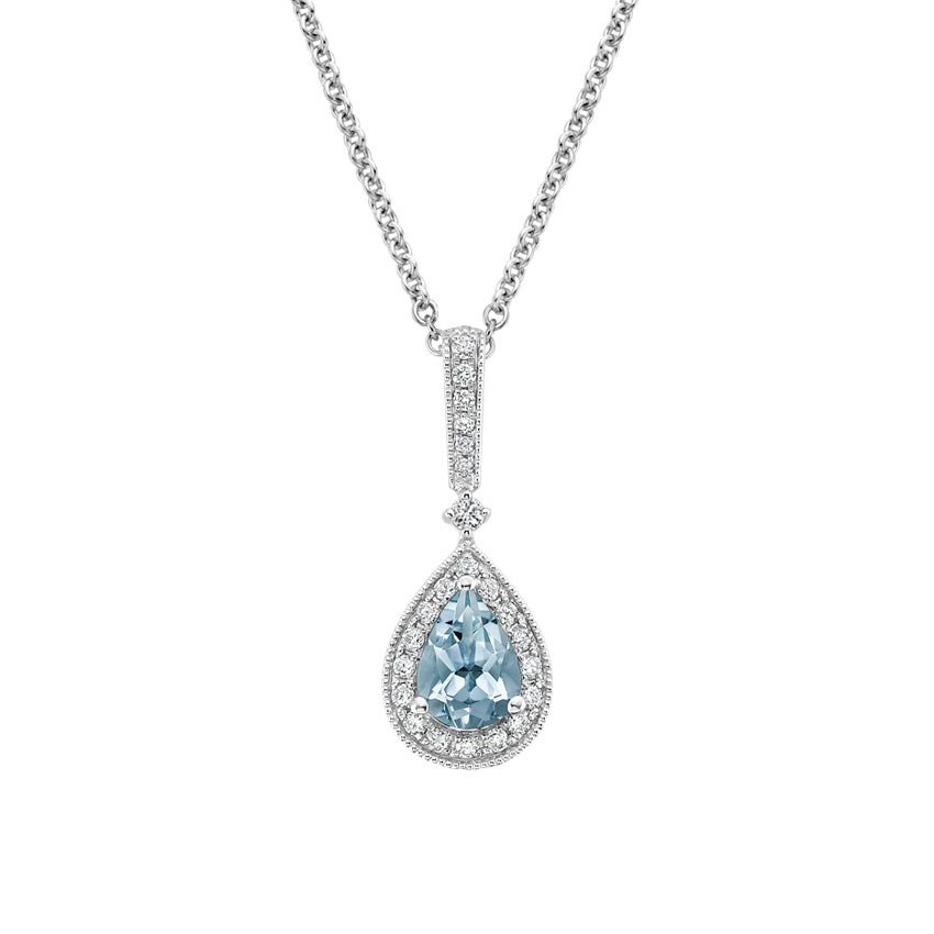 Skye Aquamarine and Diamond Necklace