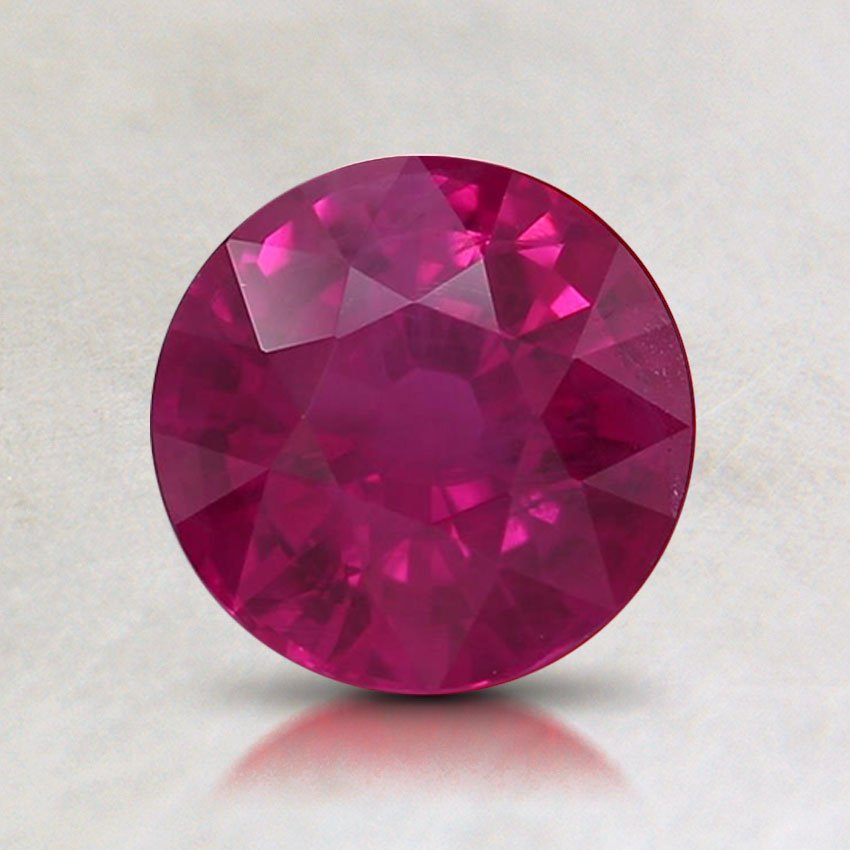 6.5mm Premium Round Ruby, top view