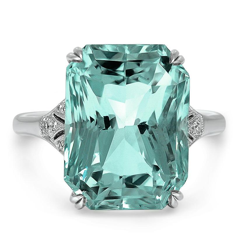 Art Deco Aquamarine Cocktail Ring Willia Brilliant Earth