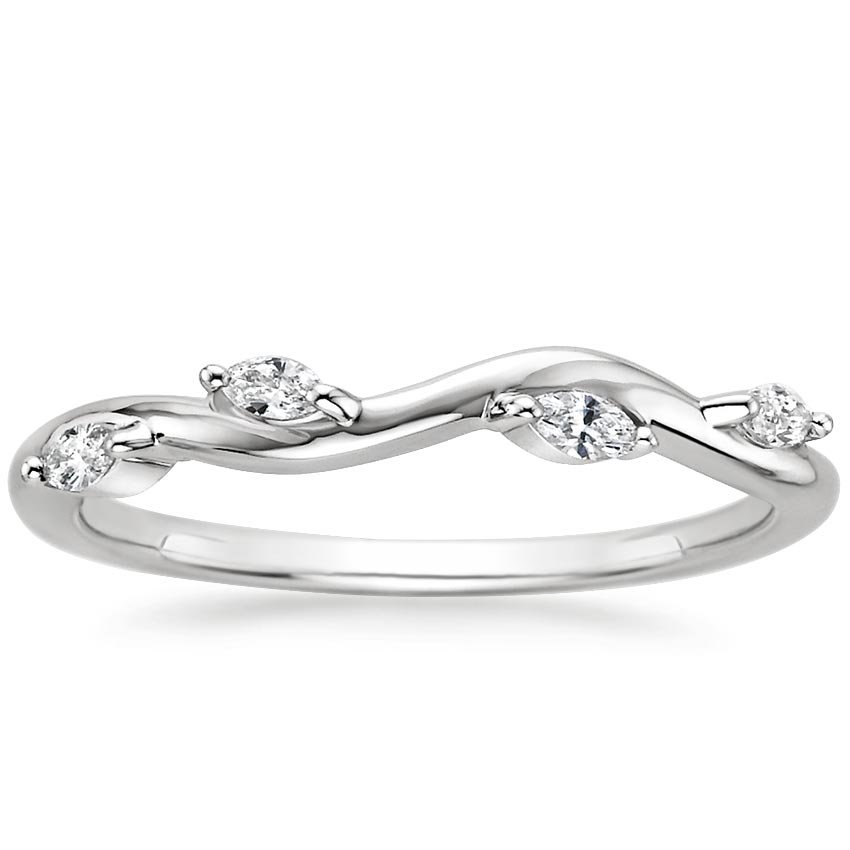 Winding Willow Diamond Ring (1/8 ct. tw.) in Platinum