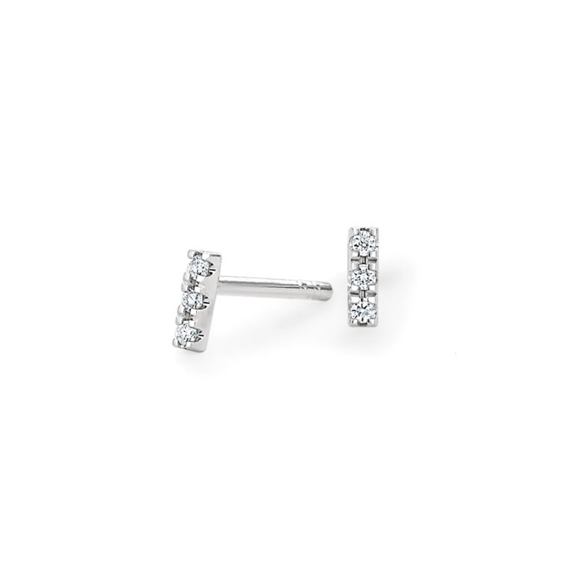 Top TwentyGifts - MINI PAVÉ BAR DIAMOND EARRINGS