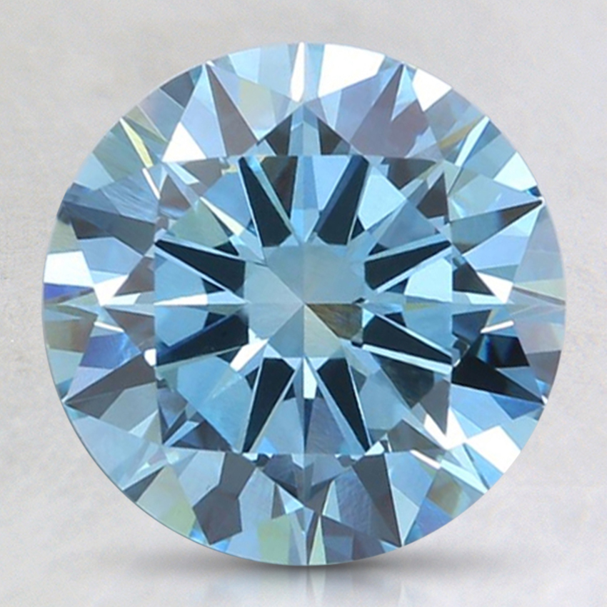 2.40 Ct. Fancy Intense Blue Round Lab Created Diamond