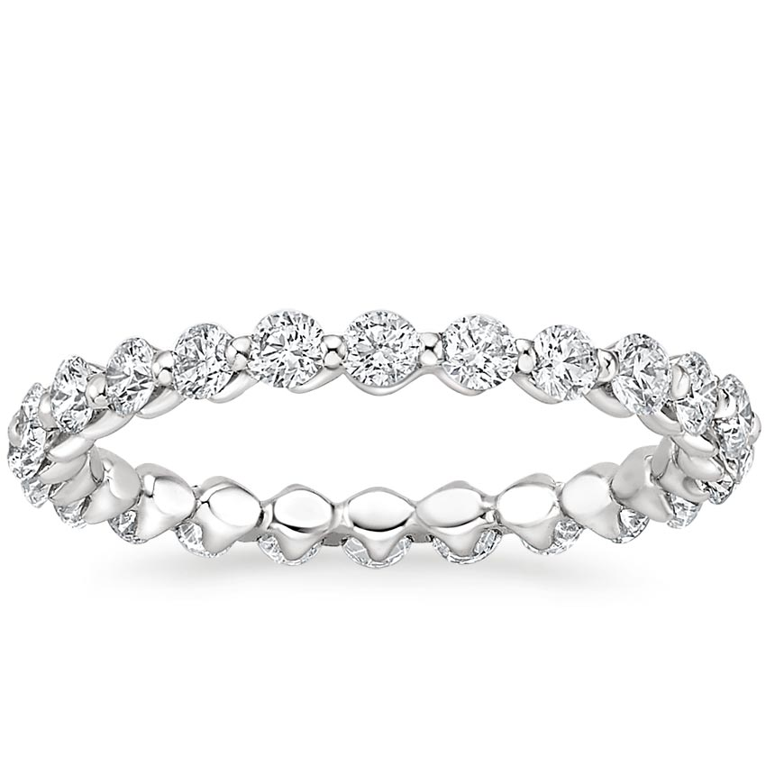Shared Prong Eternity Lab Diamond Ring
