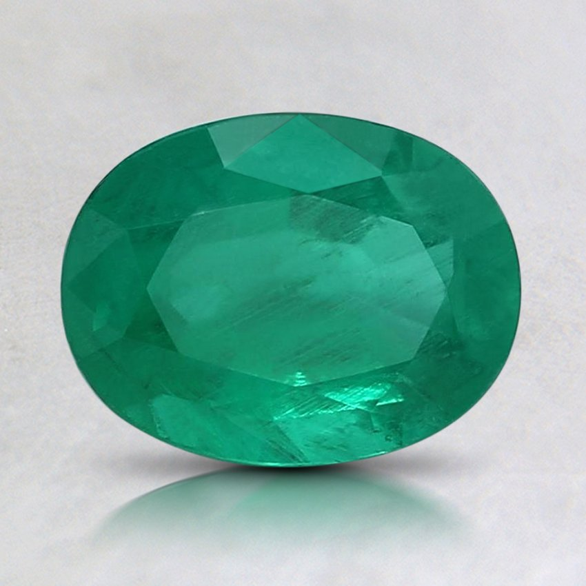 8x6mm Premium Oval Emerald, top view