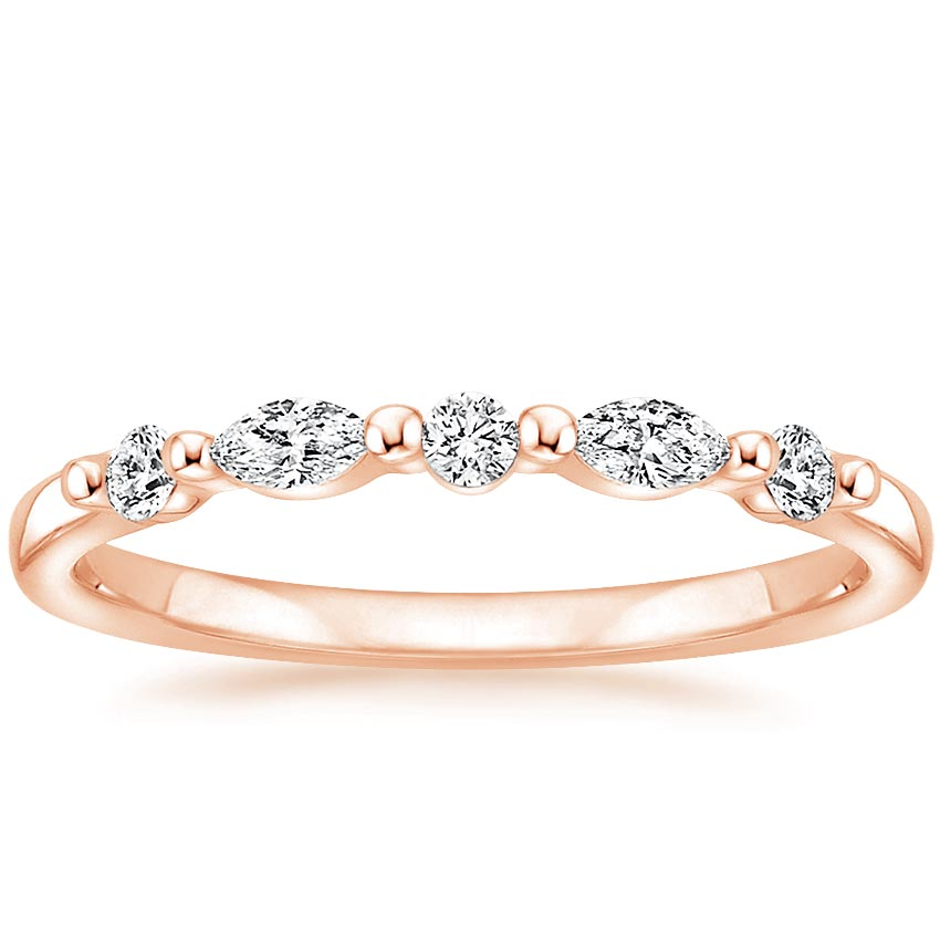 Rose Gold Petite Versailles Diamond Ring (1/5 ct. tw.)