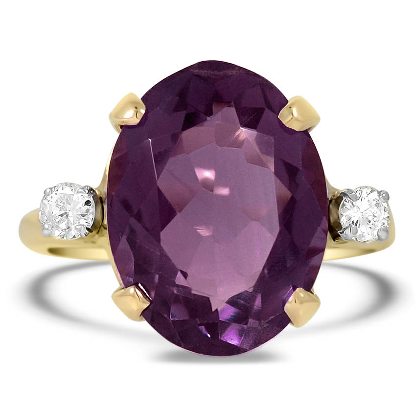 Modern Amethyst Cocktail Ring