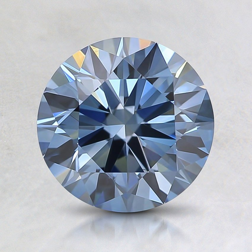 1.40 Ct. Fancy Deep Blue Round Lab Created Diamond