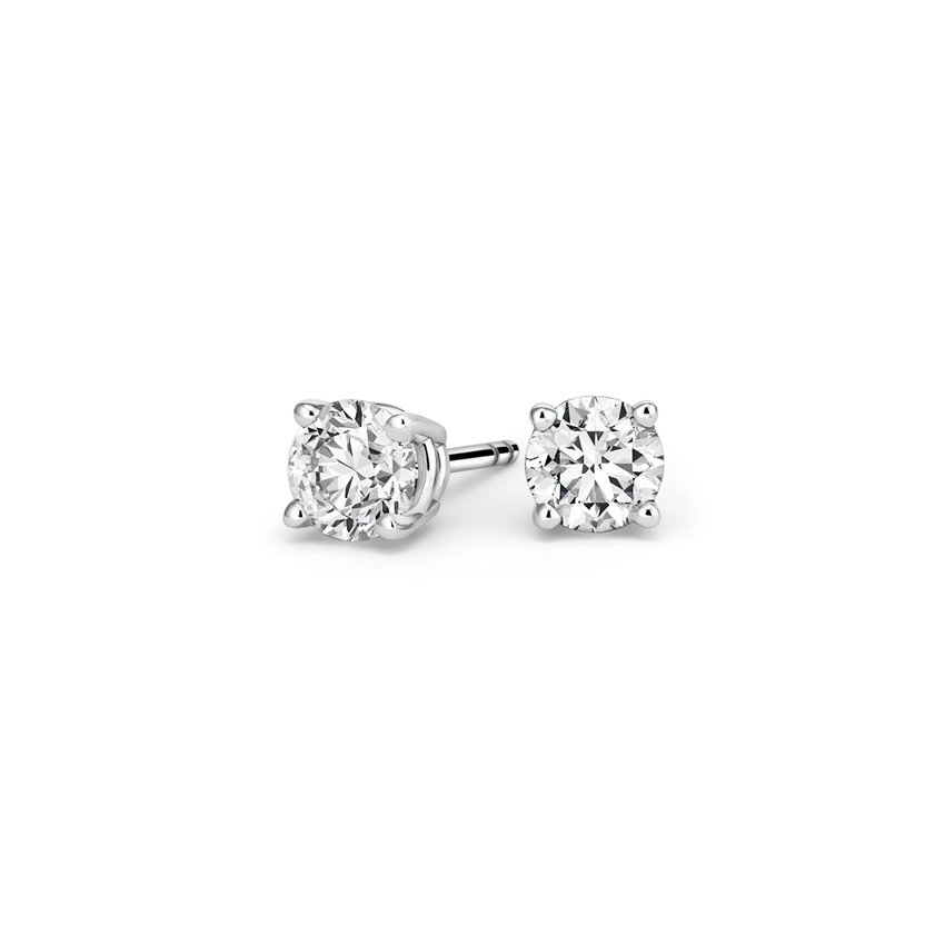 Top Twenty Anniversary Gifts - ROUND DIAMOND STUD EARRINGS (1/2 CT. TW.)