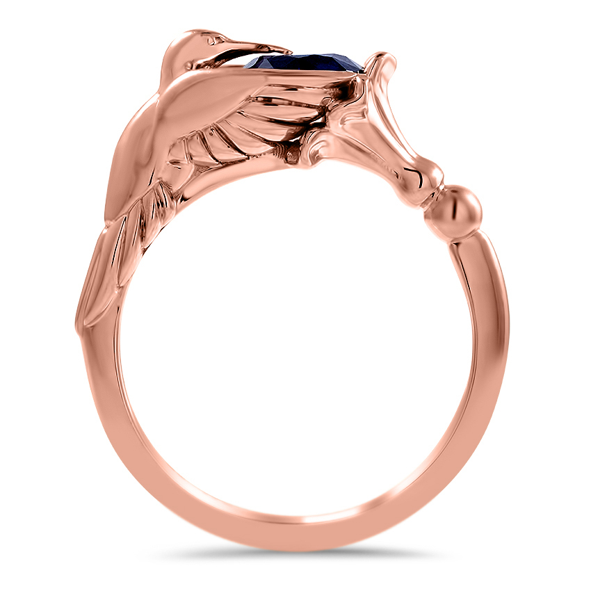 925 Sterling Silver ring with a Diamond Cut ring Hummingbird engagement ring Four Stones Ring Hummingbird Ring anniversary gift for her